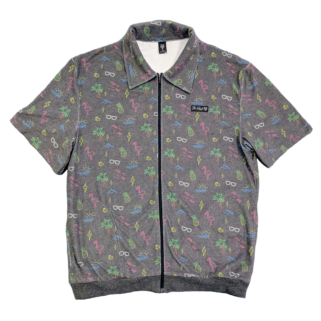 Neon Paradise Zip Up Shirt