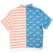 Load image into Gallery viewer, Sharks & Stripes Zip Up Shirt