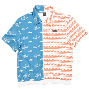 Sharks & Stripes Zip Up Shirt