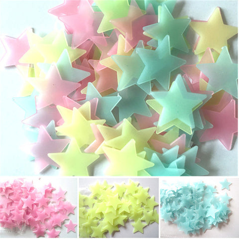 100PC Kids Bedroom Beautiful Fluorescent Glow In