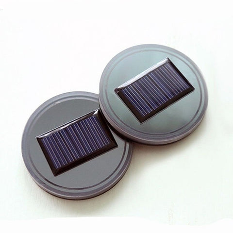 Solar LED Car Cup Holder Bottom Pad