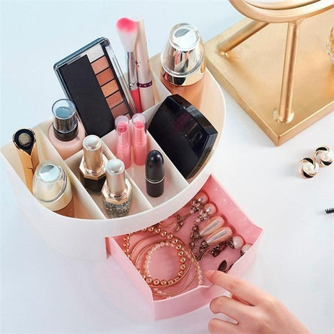 2 Layer Mini Cosmetic Drawer Storage Case Girl