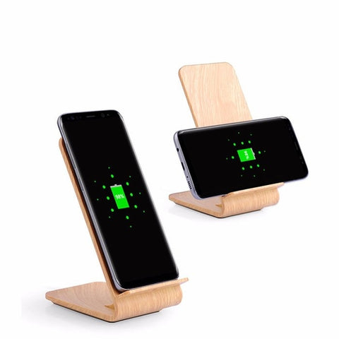 Wood Fast Qi Wireless Charger Stand