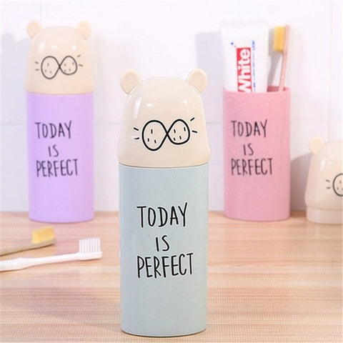 Cartoon Toothbrush Box Travel Portable Cup