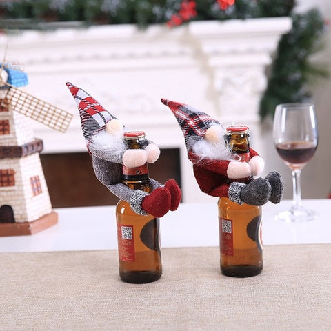 Christmas Wine Bottle Cover Clothes Ornament Hot