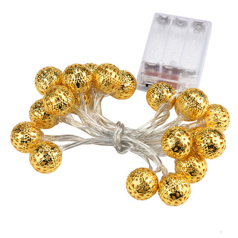 Creative Golden Light With Round Ball LED Light