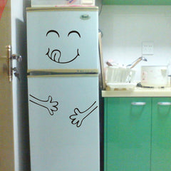 Cute Sticker Fridge Happy Delicious Face Kitchen