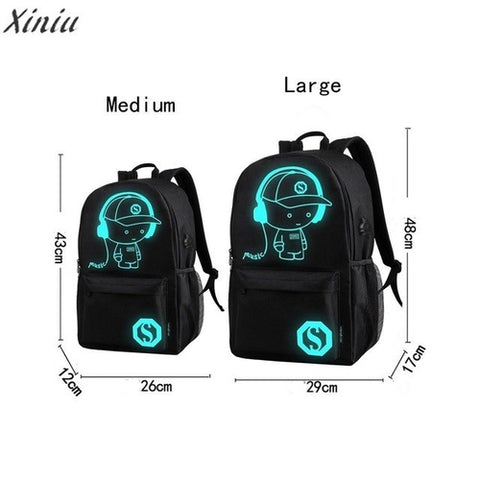 Fashion Unisex Backpack Preppy style Teenagers USB