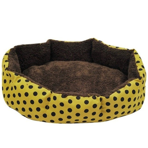 Colorful Leopard Print Pet Cat And Dog Bed Pink,