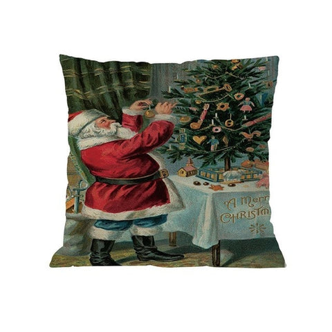 Merry Christmas Pillow Cases Bedroom Home Office
