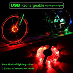 New Youthful Men's USB Rechargeable Bike Light