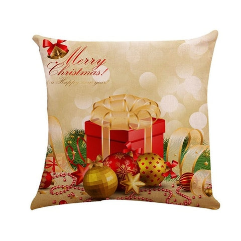 Pillowcase Happy Christmas Bedroom Cushion cover
