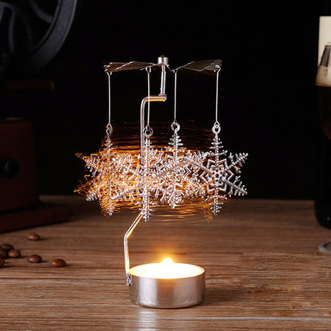 Rotary candle holder Spinning Tealight Candle