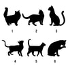 Image of Personalised Cat Silhouette Peg Hook