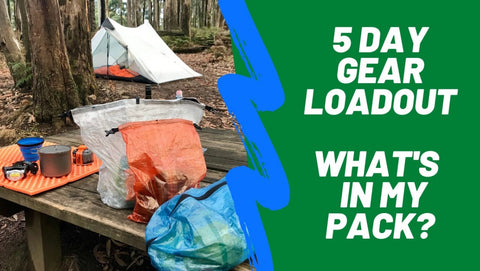 what's in my pack 5 day hike