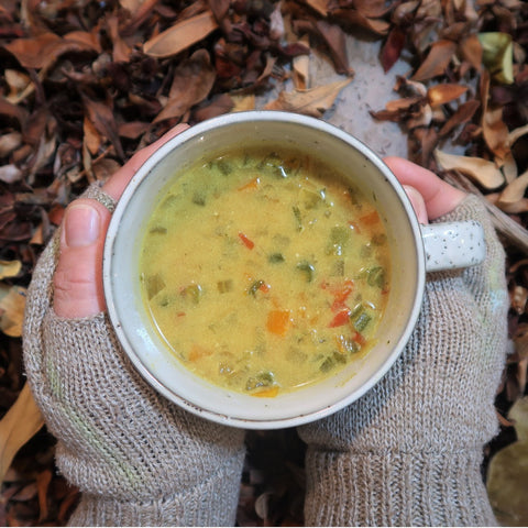 feed the hike vegetable curry soup