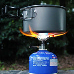 brs-3000t ultralight titanium gas hiking backpacking stove boiling water