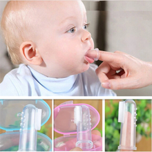 Baby Finger Toothbrush With Box made with Soft BPA Free Silicone