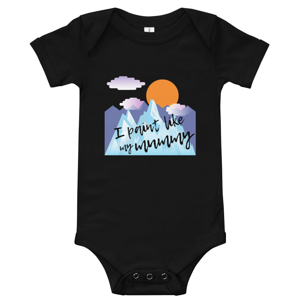 Baby bodysuits Short Sleeve - I paint like my mummy (Multi Colors Available)