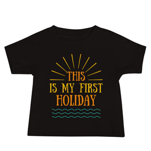Baby Jersey Short Sleeve Tee - This is my first holiday 3