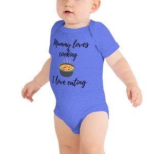 Baby bodysuits Short Sleeve - Mummy loves cooking (Multi Colors Available)