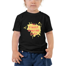 Toddler Short Sleeve Tee - My finger painting t-shirt (Multi Colors Available)