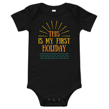 Baby bodysuits Short Sleeve - This is my first holiday 3 (Multi Colors Available)