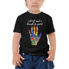 Toddler Short Sleeve Tee - i don't need a brush to paint (Multi Colors Available)