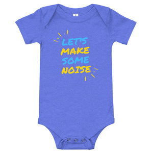 Baby bodysuits Short Sleeve - Let's make some noise (Multi Colors Available)