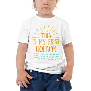 Toddler Short Sleeve Tee - This is my first holiday 3 (Multi Colors Available)