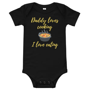Baby bodysuits Short Sleeve - Daddy loves cooking (Multi Colors Available)