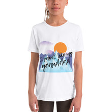 Youth Short Sleeve T-Shirt - I paint like my granddad (Multi Colors Available)