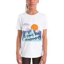 Youth Short Sleeve T-Shirt - I paint like my mummy (Multi Colors Available)