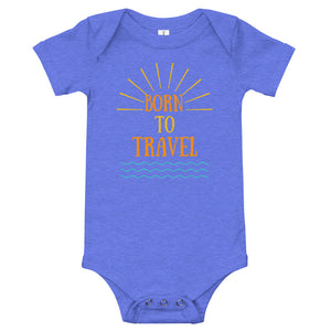 Baby bodysuits Short Sleeve - Born to Travel (Multi Colors Available)