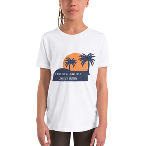 Youth Short Sleeve T-Shirt - I will be a traveller like my mummy