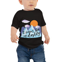 Baby Jersey Short Sleeve Tee - I paint like my daddy