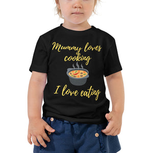 Toddler Short Sleeve Tee - Mummy loves cooking (Multi Colors Available)