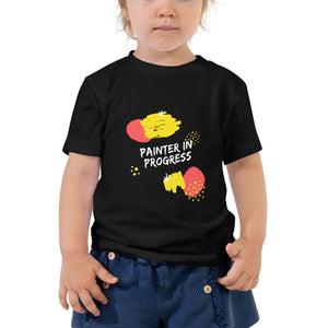 Toddler Short Sleeve Tee - Painter in progress (Multi Colors Available)