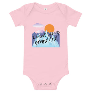 Baby bodysuits Short Sleeve - I paint like my granddad (Multi Colors Available)