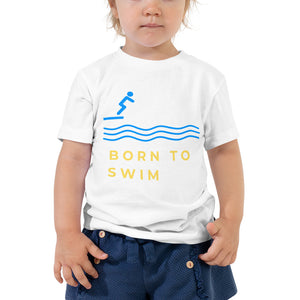 Toddler Short Sleeve Tee - Born to Swim 2 (Multi Colors Available)
