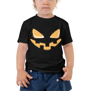 Toddler Short Sleeve Tee - Halloween Smile (Orange)