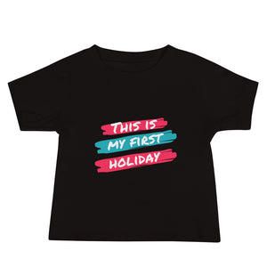 Baby Jersey Short Sleeve Tee - This is my first holiday 2