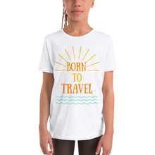 Youth Short Sleeve T-Shirt - Born to Travel (Multi Colors Available)