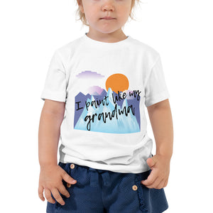 Toddler Short Sleeve Tee - I paint like my grandma (Multi Colors Available)