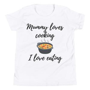Youth Short Sleeve T-Shirt - Mummy loves cooking (Multi Colors Available)