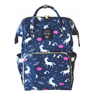 Nappy/Diapers changing baby bag - navy unicorn