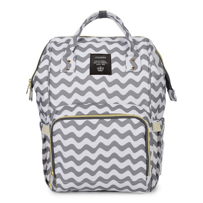 Nappy/Diapers changing baby bag - zigzag grey