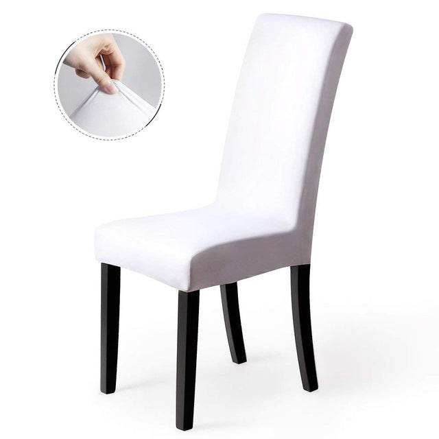 Solid Chair Covers Spandex Slipcover Modern Stretch Elastic Chair Covers for Universal Kitchen Chair Cover
