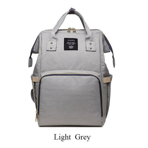 Nappy/Diapers changing baby bag - light grey
