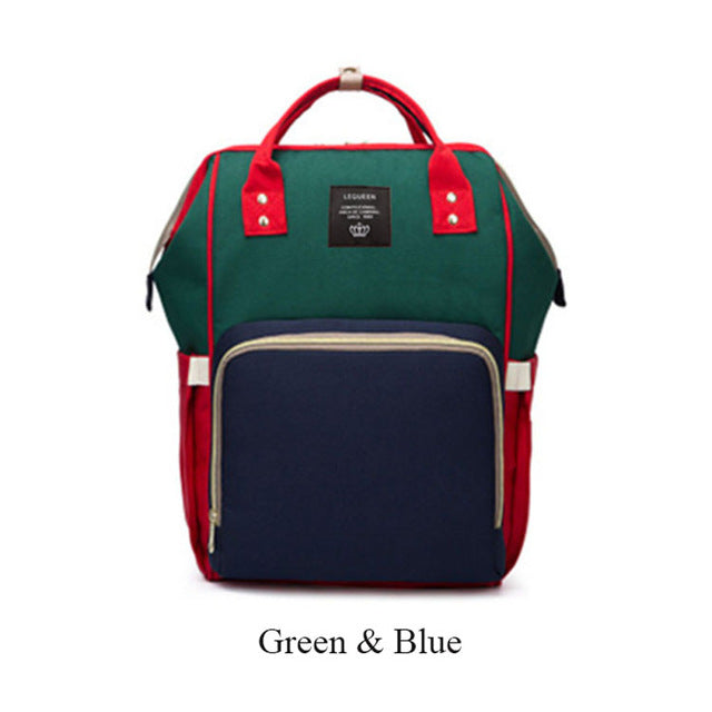 Nappy/Diapers changing baby bag - blue green red
